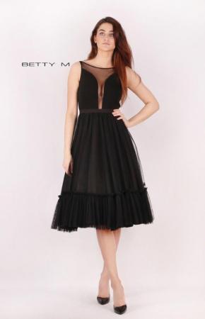 Rochie Betty M Tango neagra maxi de seara baby doll1