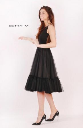 Rochie Betty M Tango neagra maxi de seara baby doll3