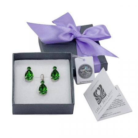 Set cadou cristale Swarovski Alma Emerald0
