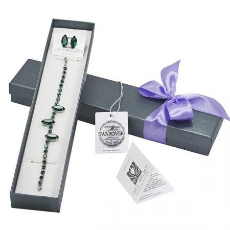 Set cadou cristale Swarovski Amina Emerald0