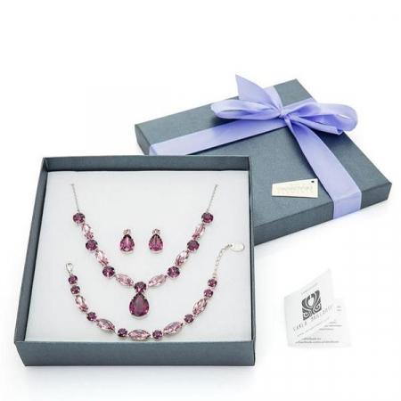 Set cadou cristale Swarovski Anca Amethyst & Light Amethyst0