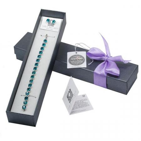 Set cadou cristale Swarovski Blue Zircon0