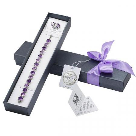 Set cadou cristale Swarovski Jeny Violet &Tanzanite0
