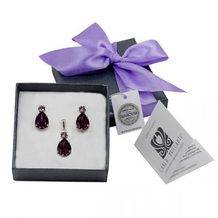 Set cadou cristale Swarovski Petra Amethyst & Light Amethyst0