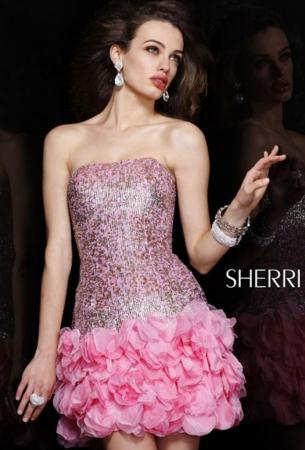 Rochie Sherri Hill 8430 roz scurta de ocazie mulata din matase1
