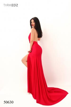 Rochie Tarik Ediz 50630 rosie lunga de seara mulata din jerse5