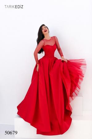 Rochie Tarik Ediz 50679 rosie lunga de seara princess din satin [1]