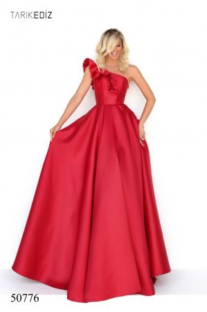 Rochie Tarik Ediz 50776 rosie lunga de seara princess din taffeta [0]