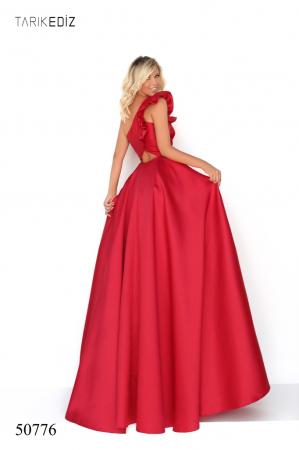 Rochie Tarik Ediz 50776 rosie lunga de seara princess din taffeta [1]