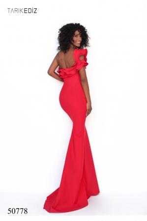 Rochie Tarik Ediz 50778 rosie lunga de seara mulata din corset2