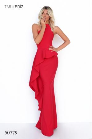 Rochie Tarik Ediz 50779 rosie lunga de seara mulata din corset [0]