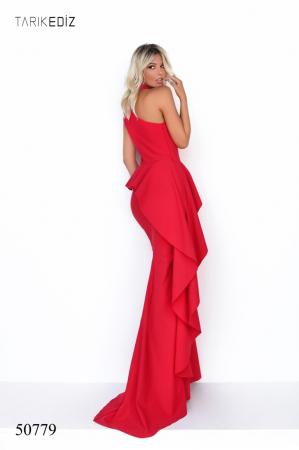 Rochie Tarik Ediz 50779 rosie lunga de seara mulata din corset [1]