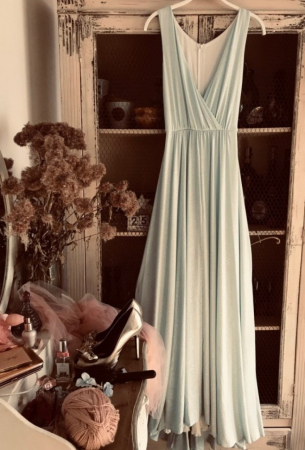 Rochie Betty M Celebrity bleu lunga de seara in clos [0]