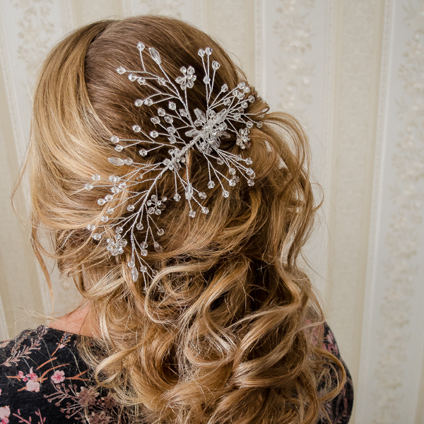 Pieptene de păr elegant, cu cristale și perle [1]