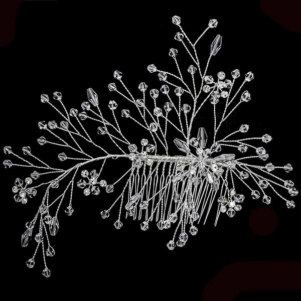 Pieptene de păr elegant, cu cristale și perle [2]