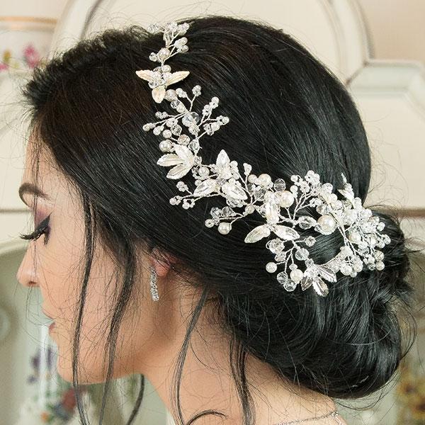 Accesoriu de păr deosebit, floral, pentru mirese [1]