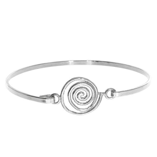Bratara argint fixa model spirala [0]