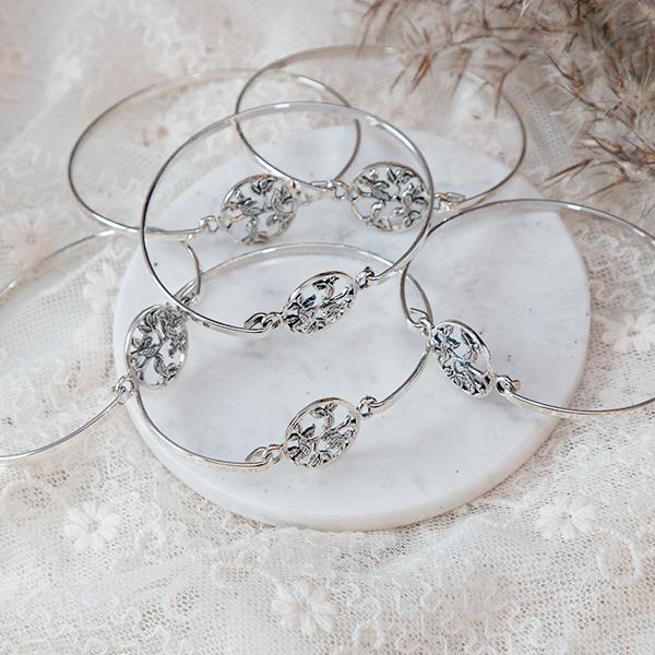 Bratara argint fixa model pasari [3]