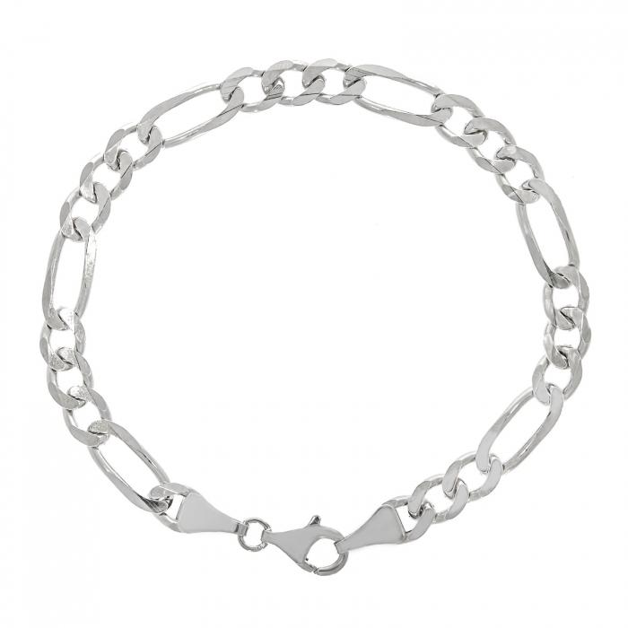 Brățară bărbătească din argint, model lanț Figaro [0]
