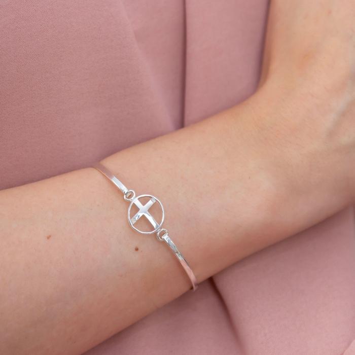 Brățară fixă argint cu simbolul credinței [1]