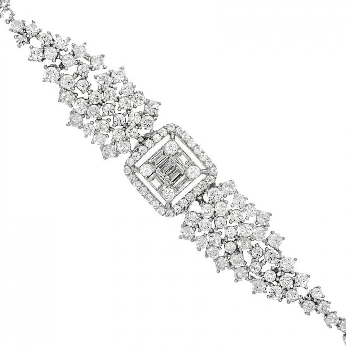 Brățară argint rodiat cu cristale strălucitoare de zirconiu [0]