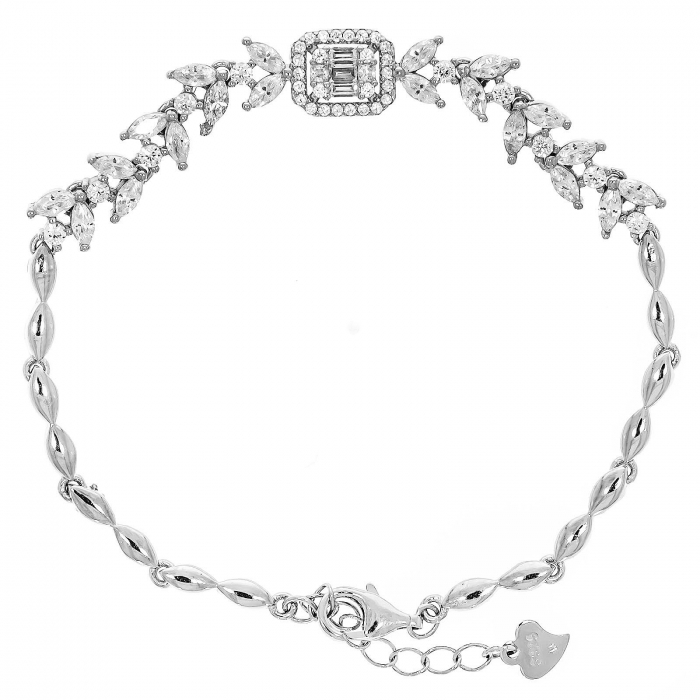 Brățară elegantă din argint rodiat cu pietricele de zirconiu [0]