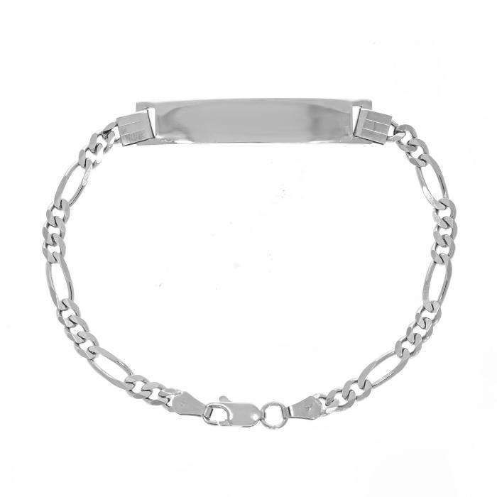 Brățară masculină din argint 925 cu plăcuță [0]