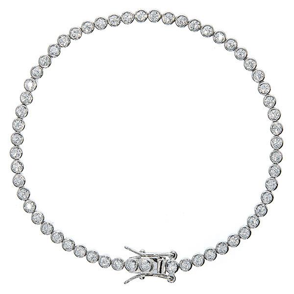 Brățară tip tennis din argint cu zirconiu transparent [0]