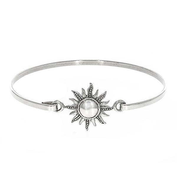 Bratara argint fixa cu medalion soare [3]