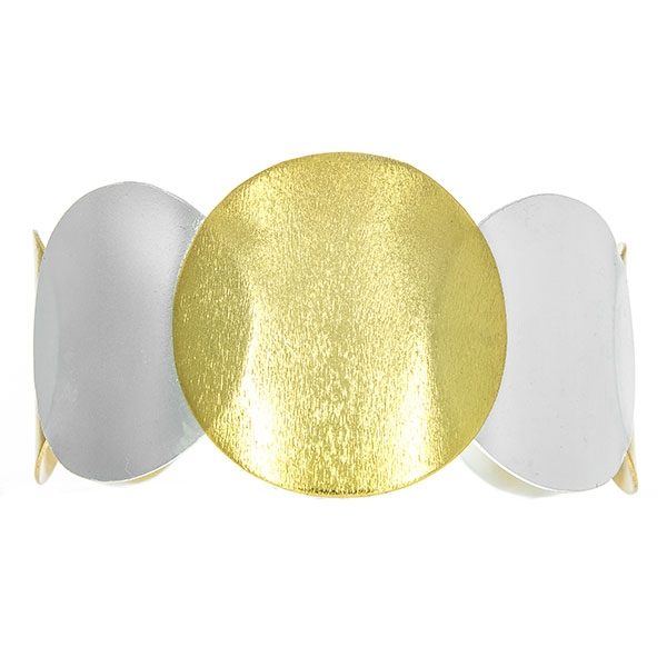 Bratara statement din argint satinat aurit cu argintiu [4]