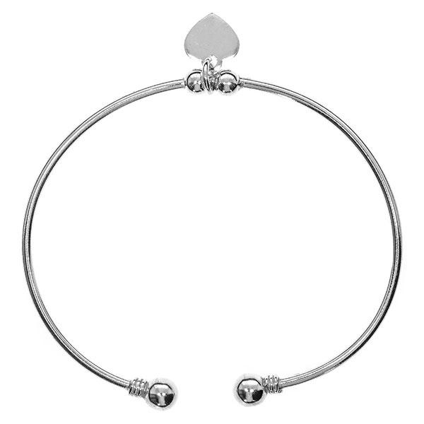 Bratara semi-rigida din argint cu charm inima [0]