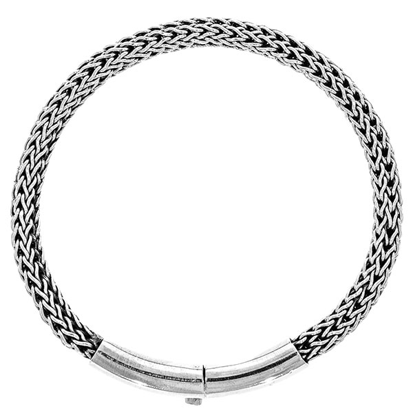 Brățară deosebită bărbătească împletită din argint masiv [1]