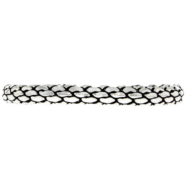 Brățară semi-rigidă din argint antichizat model împletit, unisex [2]