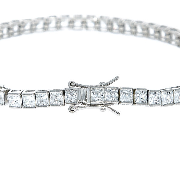 Bratara argint rodiat model tennis cu cristale [2]