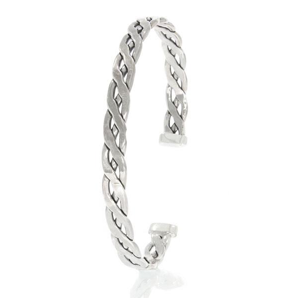 Brățară argint model împletit unisex, semi-rigidă [0]