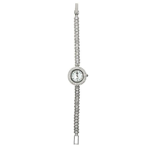 Ceas din argint rodiat cu zirconii stralucitoare [0]