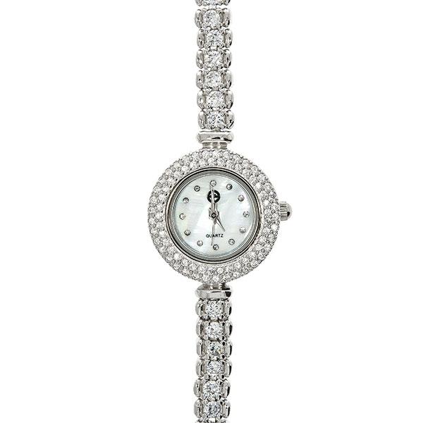 Ceas din argint rodiat cu zirconii stralucitoare [2]