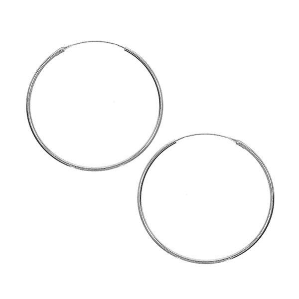 Cercei creole subțiri mini din argint [2]