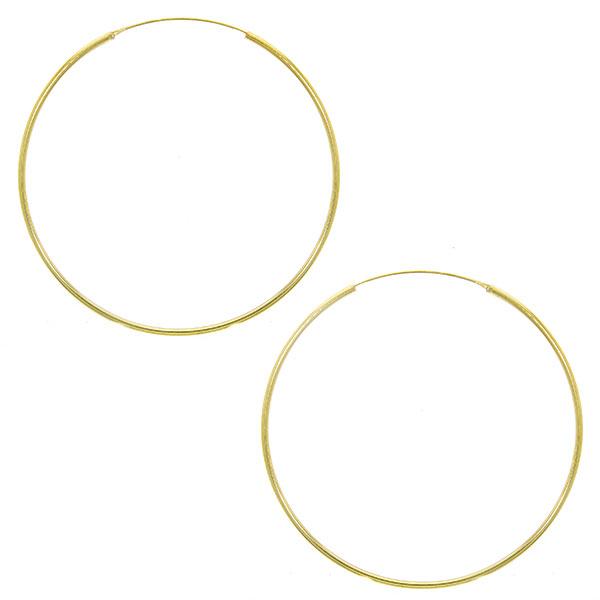 Cercei cercuri subțiri maxi size din argint placat cu aur [0]