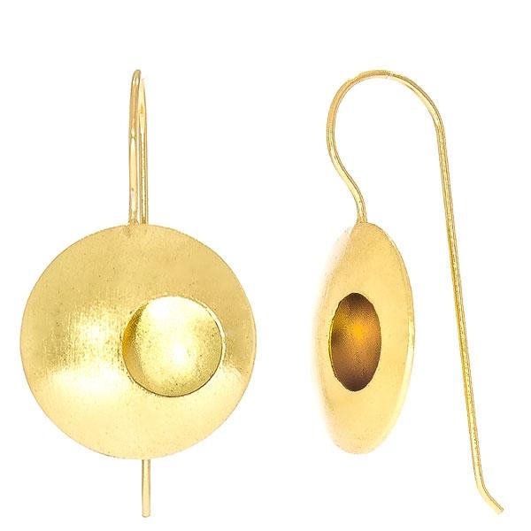 Cercei lungi eleganți din argint placat cu aur cu aspect satinat [1]