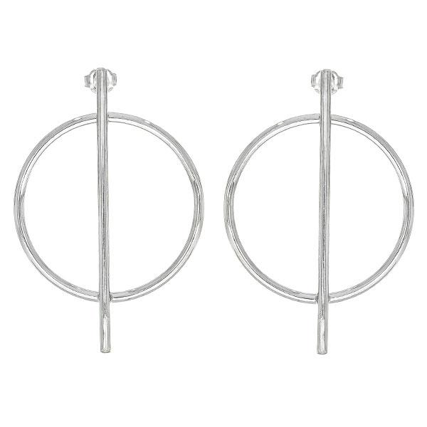 Cercei moderni din argint cu tijă și cerc [1]