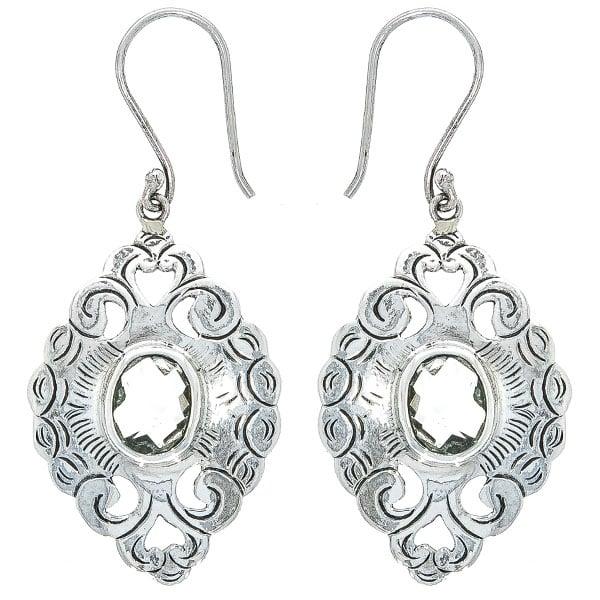 Cercei lungi handmade din argint antichizat cu citrin [0]
