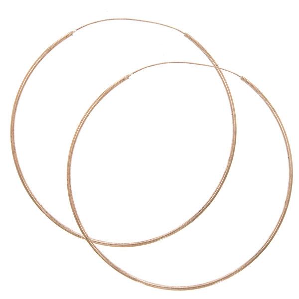 Cercei rotunzi din argint placat cu aur rose [0]