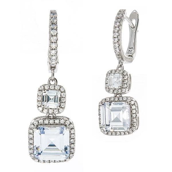 Cercei eleganți din argint rodiat, cu pietre strălucitoare de cubic zirconia [2]