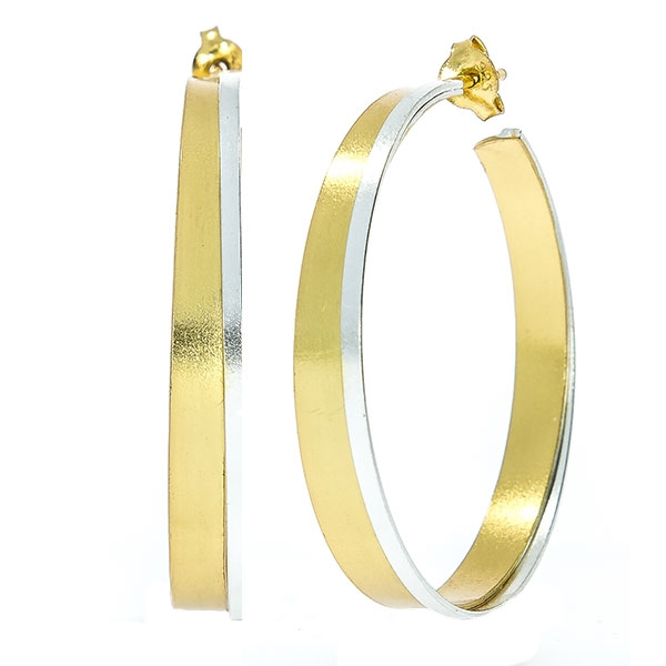 Cercei rotunzi din argint placat cu aur [0]