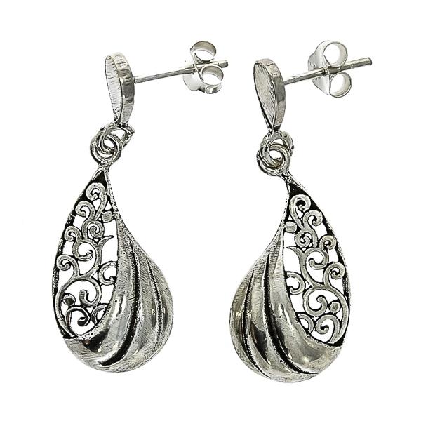 cercei-lungi-argint-antichizat-motive-florale-janette [2]