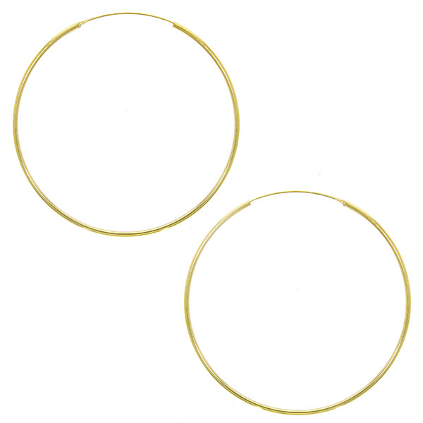 Cercei creole subțiri mărime medie din argint aurit [0]