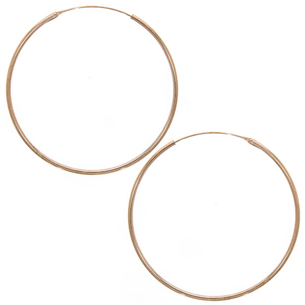 Cercei rotunzi mărime medie din argint placat cu aur rose [0]