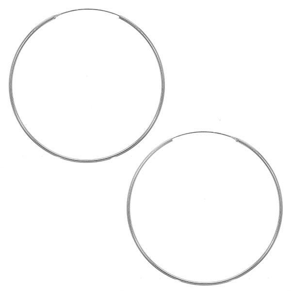 Cercei rotunzi medii din argint [0]