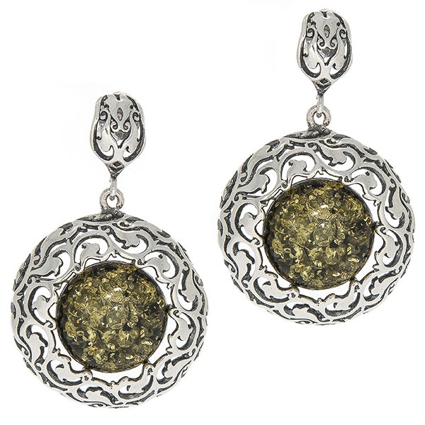 cercei-argint-antichizat-handmade-chihlimbar-ambra-verde-janette [0]
